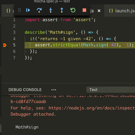 Debugging ES Modules in Node js and Mocha Using VS Code | Depth-First