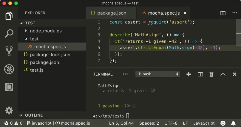 Debugging ES Modules in Node js and Mocha Using VS Code